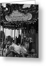 Le Carrousel Greeting Card by David Rucker