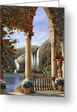 Le Cascate Greeting Card by Guido Borelli