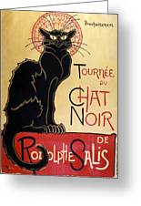 Le Chat Noir Greeting Card by Nomad Art And  Design