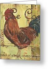 Le Coq Greeting Card by Debbie DeWitt