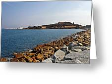 Le Fort Carre - Antibes - France Greeting Card by Christine Till