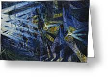 Le Forze Di Una Strada Greeting Card by Umberto Boccioni