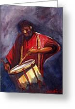 Le Joueur De Tambour  The Drum Player Greeting Card by Dominique Serusier