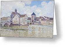 Le Pont De Moret Greeting Card by Alfred Sisley