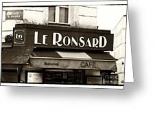 Le Ronsard Greeting Card by John Rizzuto