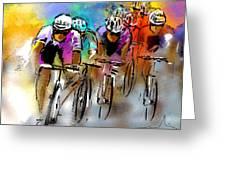 Le Tour De France 03 Greeting Card by Miki De Goodaboom