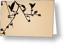 Leaf Birds Greeting Card by Darryl Dalton