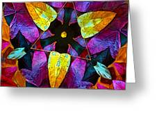 Leaf Triangle Greeting Card by Floyd Hopper