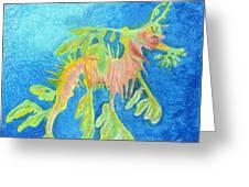 Leafy Seadragon Greeting Card by Tanya Hamell