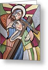 Lean On Me Greeting Card by Anthony Falbo