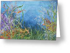 Leafy Sea Dragon Greeting Card by Mary Magee