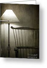 Leave The Light On Greeting Card by Terry Rowe