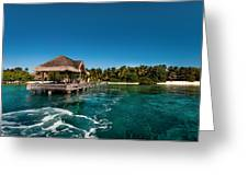 Leaving Kuramathi Resort. Maldives Greeting Card by Jenny Rainbow