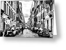 Leaving Popolo Greeting Card by John Rizzuto