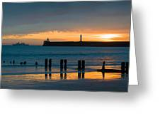 Leaving Port Greeting Card by Dave Bowman