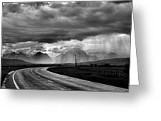 Leaving the Tetons Greeting Card by Steven Ainsworth