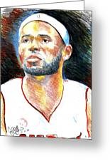 Lebron James  Greeting Card by Jon Baldwin  Art