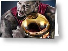 Lebron James - My Way Greeting Card by Reggie Duffie