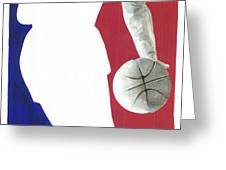 Lebron NBA Logo Greeting Card by Tamir Barkan