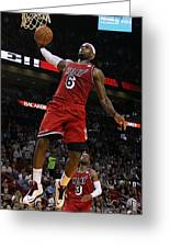Lebron Greeting Card by Paint Splat