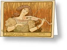 Lecons De Violon Greeting Card by Gianfranco Weiss