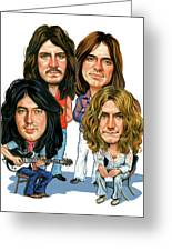 Led Zeppelin Greeting Card by Art