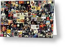 Led Zeppelin Collage Greeting Card by Taylan Soyturk