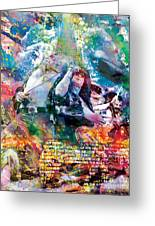 Led Zeppelin Original Painting Print  Greeting Card by Ryan RockChromatic