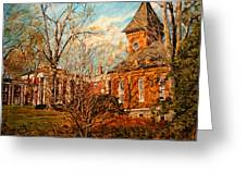 Lee Chapel From The Lower Walk Greeting Card by Thomas Akers