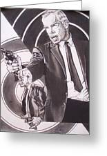 Lee Marvin - Point Blank Greeting Card by Sean Connolly