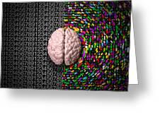 Left Brain Right Brain Greeting Card by Allan Swart