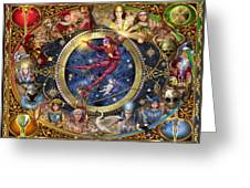 Legacy of the Divine Tarot Greeting Card by Ciro Marchetti