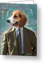 Legal Beagle Greeting Card by Nikki Smith