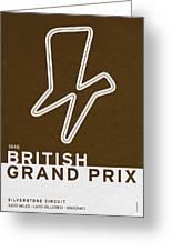 Legendary Races - 1948 British Grand Prix Greeting Card by Chungkong Art