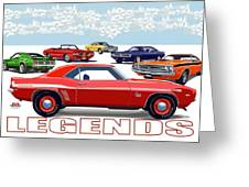 Legends Greeting Card by DARRYL McPHERSON