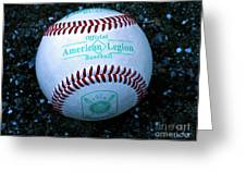 Legion Baseball Greeting Card by Colleen Kammerer