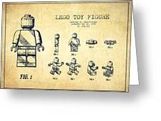 Lego toy Figure Patent Drawing from 1979 - Vintage Greeting Card by Aged Pixel