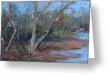 Leiper's Creek Study Greeting Card by Carol Berning
