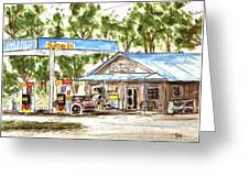 Leipers Fork Market Greeting Card by Tim Ross