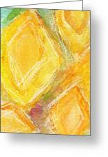 Lemon Drops Greeting Card by Linda Woods