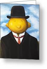 Lemon Head Greeting Card by Leah Saulnier The Painting Maniac