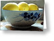Lemon Still Life Greeting Card by Cole Black