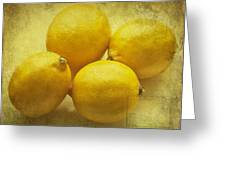 Lemons Greeting Card by Nomad Art And  Design