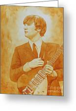 Lennon Gold Greeting Card by Robert Hooper
