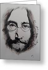 Lennon Greeting Card by Julie Hollis