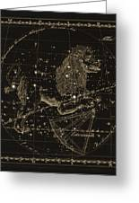 Leo Constellations, 1829 Greeting Card by Science Photo Library
