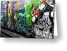 Leprechaun Graffiti Greeting Card by John Rizzuto