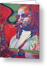 Leroi Moore Colorful Full Band Series Greeting Card by Joshua Morton