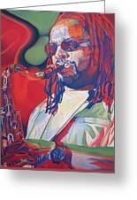 Leroi Moore Colorful Full Band Series Greeting Card by Joshua Morton