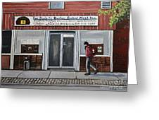 Les Produits Quebec Smoked Meat Inc Greeting Card by Reb Frost